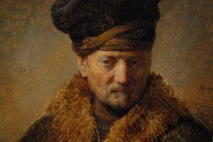 Rembrandt, Alter Mann mit Pelzmütze, 1630