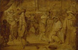Adriaen Pietersz. van de Venne, Barbierstube, 1627, Öl auf Holz