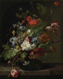 Rachel Ruysch, Blumenstillleben, um 1700, Öl auf Leinwand