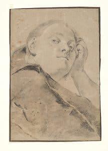 Giovanni Battista Piazzetta, Junge Frau, in skeptischer Betrachtung (Porträt der Jugendfreundin und Künstlerin Giulia Lama)