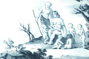 """Cesare di Castelbarco: """"Sonate caratteristiche sopra la Creazione"""", Titelblatt (Ausschnitt)"""